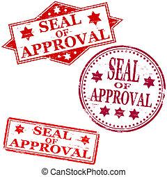 selo, aprovação, selo