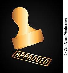 selo, aprovação