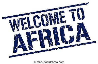 selo, bem-vindo, áfrica
