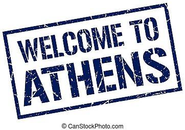 selo, bem-vindo, Atenas
