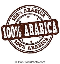 selo borracha, arabica, grunge, 100%