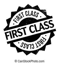 selo borracha, classe, primeiro