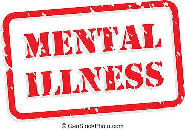 selo borracha, doença, mental