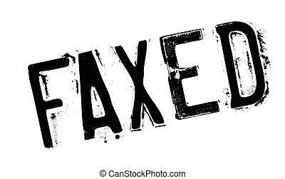 selo borracha, faxed