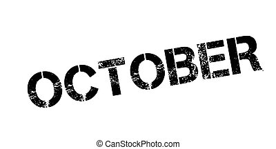 selo borracha, outubro