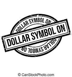 selo borracha, símbolo, dólar