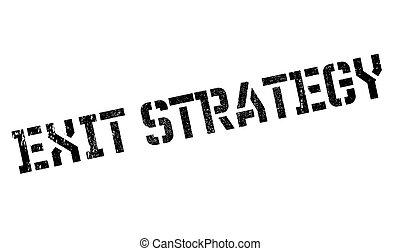 selo borracha, saída, estratégia