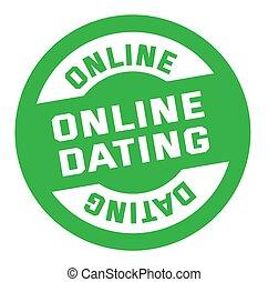 selo, branca, namorando, isolado, online