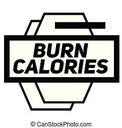 selo, branca, queimadura, calorias