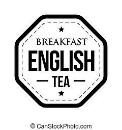 selo, chá, pequeno almoço, inglês, vindima