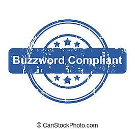 selo, compliant, conceito, buzzword, negócio