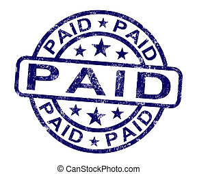selo, confirmação, pagamento, pago, mostra