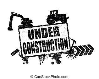 selo, construção, sob
