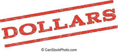 selo, dólares, watermark