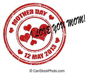 selo, dia, mãe