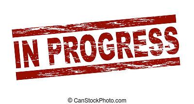 selo, -, em, progresso