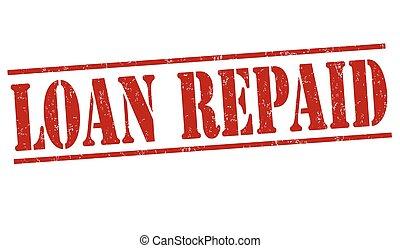 selo, empréstimo, repaid