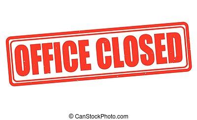 selo, escritório, fechado