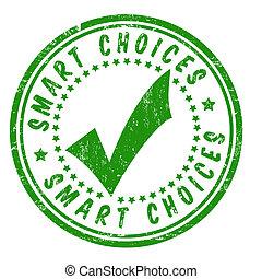 selo, esperto, escolhas