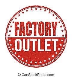 selo, fábrica, saída