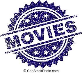 selo, filmes, textured, grunge, selo