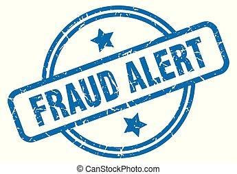 selo, fraude, grunge, alerta