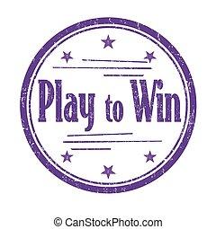 selo, ganhe, jogo, ou, sinal