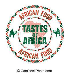 selo, gostos, áfrica, alimento, africano