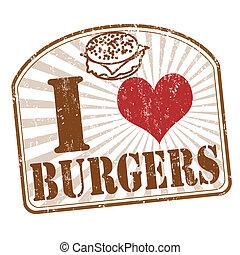 selo, hambúrgueres, amor