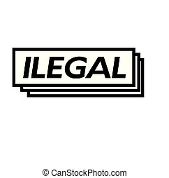 selo, ilegal, branca