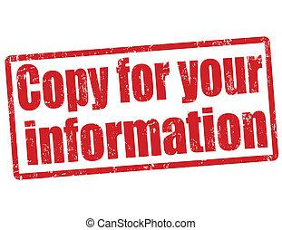 selo, informação, cópia, seu