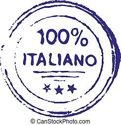 selo, italiano, cem, cento, tinta