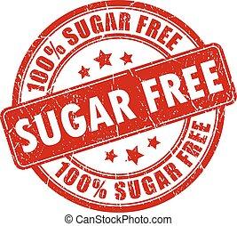 selo, livre, açúcar