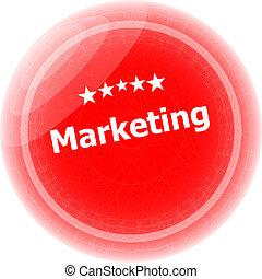 selo, marketing, sobre, borracha, fundo, branco vermelho