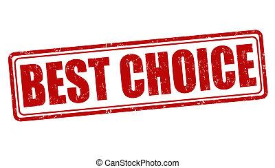 selo, melhor, escolha