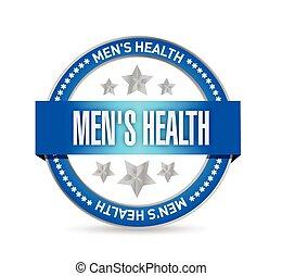 selo, mens, ilustração, saúde