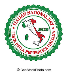 selo, nacional, dia, italiano