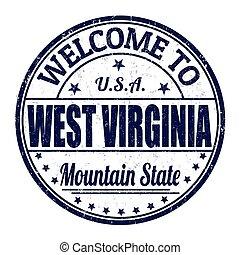 selo, oeste, bem-vindo, virgínia