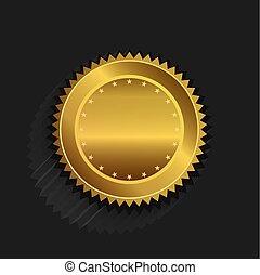 selo ouro, logotipo