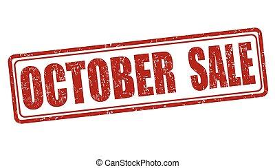 selo, outubro, venda