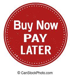 selo, pagar, compre, later
