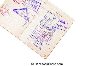 selo, passaporte