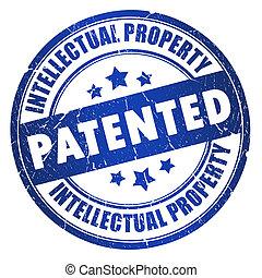 selo, patenteado, propriedade, intelectual