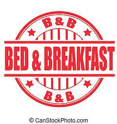 selo, pequeno almoço, cama