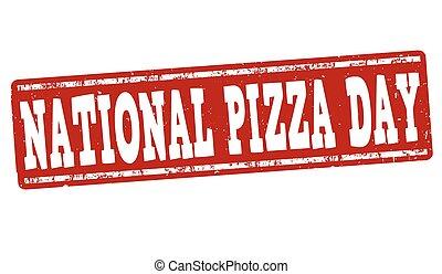 selo, pizza, ou, dia, sinal
