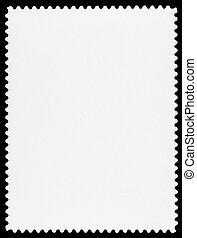 selo postal, em branco