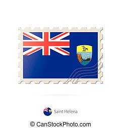 selo postal, flag., imagem, helena, são