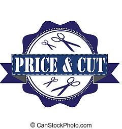 selo, preço, corte