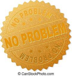 selo, problema, ouro, medalhão, não