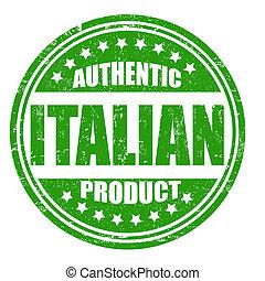 selo, produto, autêntico, italiano